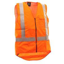 WORKWEAR SAFE T TEC TAPED FLAME RETARD A/STAT VEST