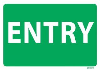 QSI ENTRY SIGN PVC 340mm x 240mm EA