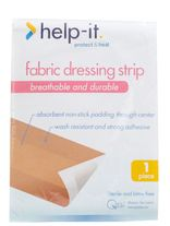 FIRST AID QSI HELP-IT FABRIC DRESSING STRIP 72MM/1M