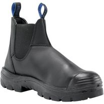BOOT STEEL BLUE HOBART S/CAP  BLK SLIP ON PAIR