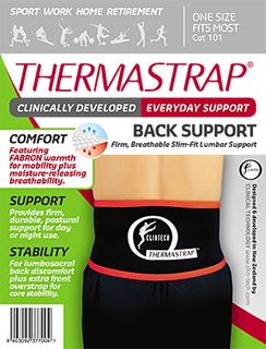 SUPPORTS CLINICAL TECH BACK THERMASTRAP