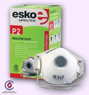 RESPIRATORY ESKO DUST MASK P2 VALVED BX 12