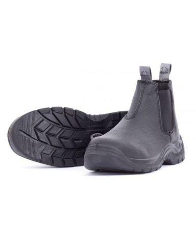 BISON TRADE BLACK SLIP-ON SAFETY BOOT