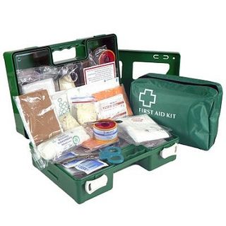 FIRST AID KIT 1-5 PERSON WALL MOUNTED PLASTIC EA