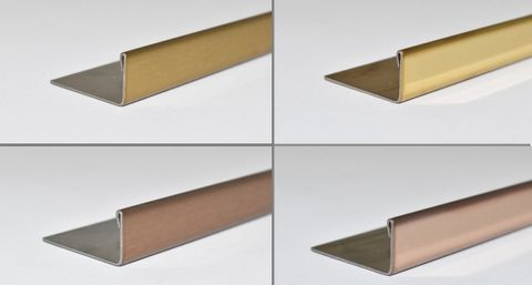 New stainless steel tile trims by Amark Group – ALLTRIM L Profile Angle in gold finish