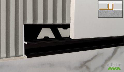 All-channel in Matt Black – an elegant designer tile trim added to Amark Group's collection.