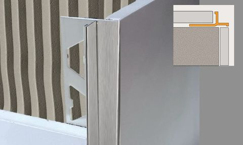 Introducing ALLTRIM Birdsmouth profile tile trim in stainless steel