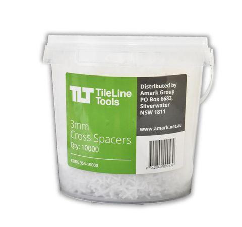 3mm Cross Spacers - Buckets