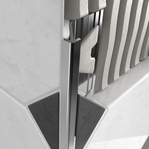 Slimline Profile Bright Silver