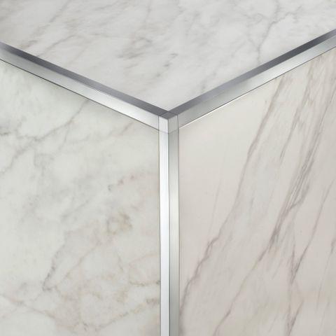 Square Edge Corner - Bright Silver