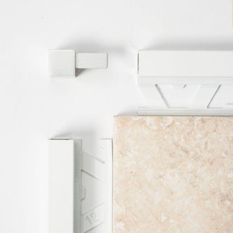 Square Edge Corner - White