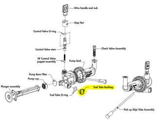 C/Part DF Fuel Tube Bushing Gray