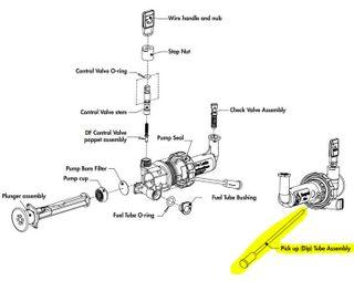C/Part MSR Fuel Pump Pick Up Tube