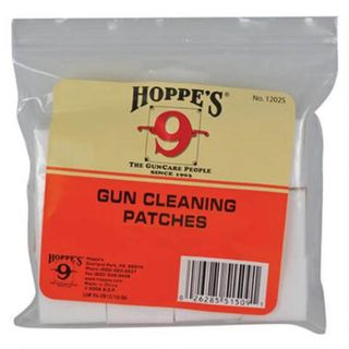 Hoppes Clng Patches .22-.270Cal - 500 pk
