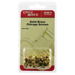 Uncle Mikes Brass Chicago Screws- 24Pk