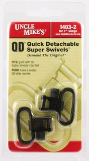 Uncle Mike's Swivels QD SS BL 1""
