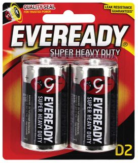 Eveready S' Heavy Duty Batteries D 2/pk