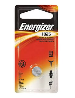 Energizer Batteries 3V CR1025 - Each