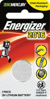 Energizer Batteries 3V CR2016 *