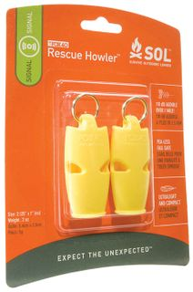 SOL Rescue Howler Whistle x2 0140-1002