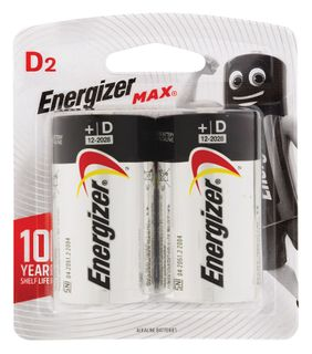 Energizer Batteries D 2/Pk       E95BP-2