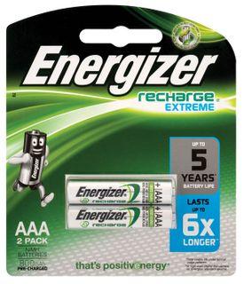 Energizer NimH Rechargeable AAA Batt 2pk