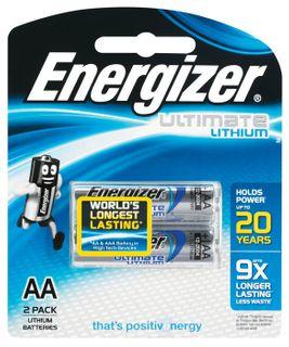 Energizer E2 Photo Lithium AA Battery 2P