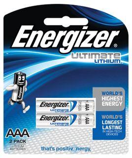 Energizer E2 Photo Lithium AAA Batt' 2pk