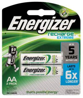 Energizer NimH Rechargeable AA Batt 2pk
