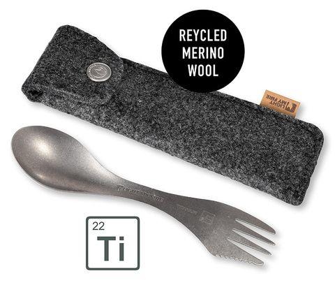 LMF Spork Kit G2 Titanium w/merino pouch