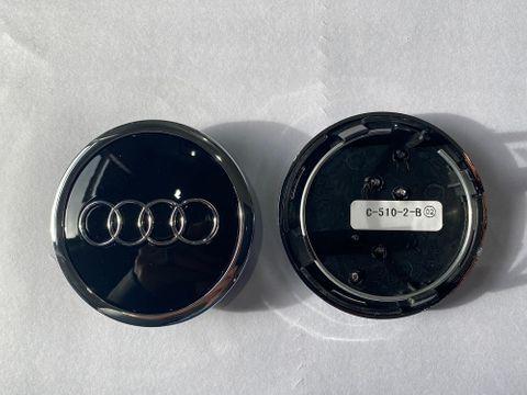 AUDI CAP, BLACK & CHROME SUITS J032, J031 (68mm)