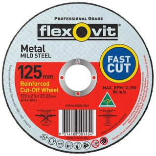 FLEXOVIT 127 X 2.5 X 22 METAL CUT OFF