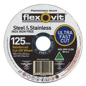 FLEXOVIT 127 X 1MM IRON/FREE CUT OFF