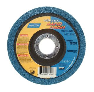 NORTON VORTEX-5A  125 X 22MM D/C RAPID BLEND WHEEL