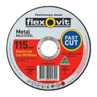 FLEXOVIT 115 X 2.5 X 22 METAL CUT OFF