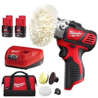 MILWAUKEE M12  12V 2.0AH LI-ION CORDLESS SPOT POLISHER / DETAIL SANDER COMBO KIT