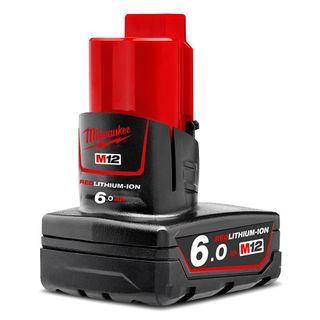 MILWAUKEE M12 6.0AH RED LITHIUM-ION BATTERY