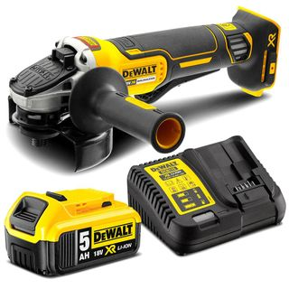 "DEWALT 18V 5.0AH LI-ION BRUSHLESS 125MM (5"") PADDLE SWITCH ANGLE GRINDER KIT"