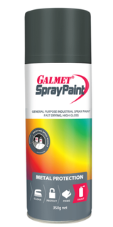 GALMET SPRAY PAINT – FAST-DRY, ENAMEL – FLAT BLACK 350G