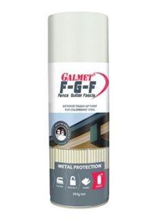 GALMET FGF – FENCE, GUTTER & FASCIA TOUCH UP - COLORBOND SURFMIST, 350G