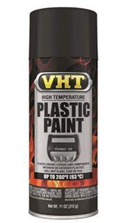 VHT HIGH TEMPERATURE PLASTIC PAINT – MATT BLACK 315G