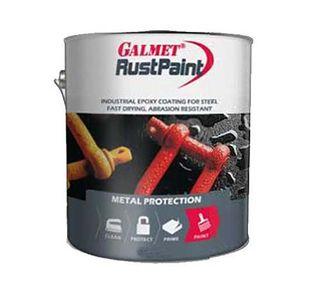 GALMET RUSTPAINT EPOXY –  FLAT BLACK 1LTR