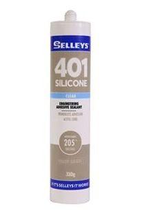SELLEYS SILICONE 401 RTV - CLEAR 310ML