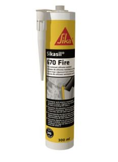 SIKASIL 670 FIRE RATED SILICONE SEALANT- GREY 300ML