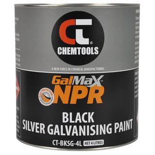CHEMTOOLS NPR GALVANISING PAINT - GLOSS BLACK 4L
