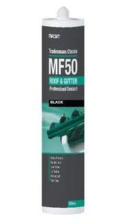 MACSIM TRADEMAN MF50 ROOF & GUTTER PROFESSIONAL SEALANT - BLACK 300ML