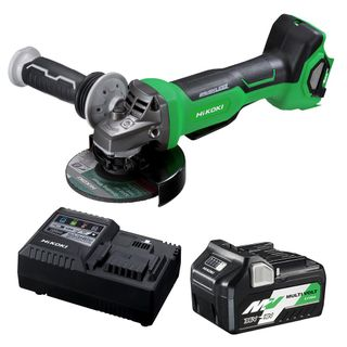 HIKOKI 36V BRUSHLESS MULTIVOLT 125MM ANGLE GRINDER WITH PADDLE SWITCH COMBO KIT