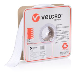 VELCRO BRAND 50MM PRESSURE SENSITIVE 0172 TAPE LOOP – WHITE 25MTR