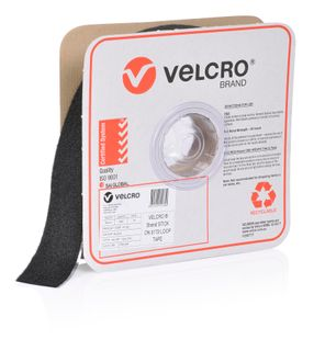 VELCRO BRAND 50MM PRESSURE SENSITIVE 0172 TAPE LOOP – BLACK 25MTR