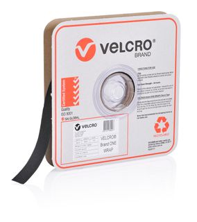VELCRO BRAND 25MM ONE-WRAP TAPE – BLACK 25MTR